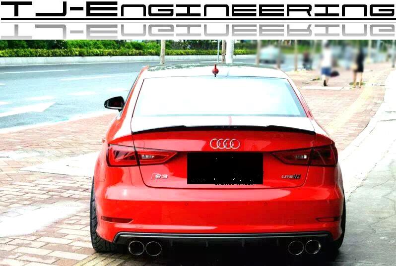 Tj engineering automotive performance parts audi a3 8v s3 limousine carbon heckspoiler